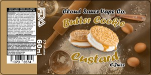 Cloud Sauce Butter Cookie Custard 60ml 2mg